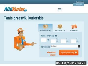 Zrzut strony Jak wysłać paczkę kurierem? AlleKurier.pl