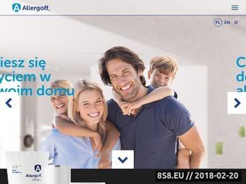 Zrzut strony Uczulenie na roztocza - allergoff.pl