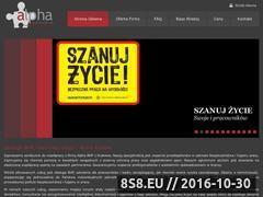 Miniaturka domeny www.alpha-bhp.pl