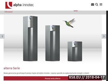 Zrzut strony Powietrzne pompy ciepła Alpha Innotec
