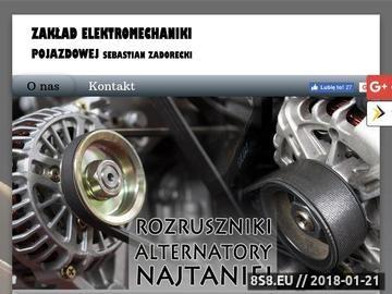 Zrzut strony Warsztat elektromechaniczny Zadorecki