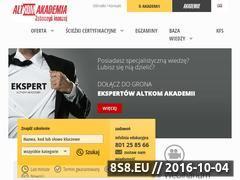 Miniaturka domeny www.altkomakademia.pl