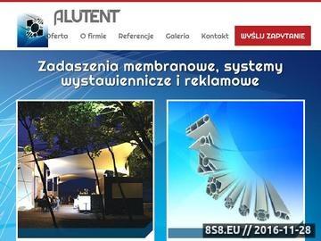 Zrzut strony Zadaszenia membranowe Alu-Tent