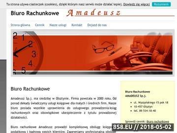 Zrzut strony Biuro rachunkowe Amadeusz z pomocą dla projektów unijnych - Olsztyn