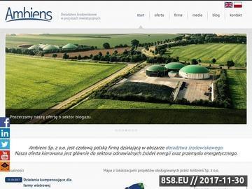 Zrzut strony Ocena oddziaływania na środowisko - Ambiens