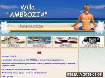 Zrzut strony Willa Ambrozja - ośrodek wypoczynkowy