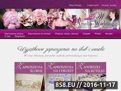 Miniaturka domeny www.amelia-wedding.pl