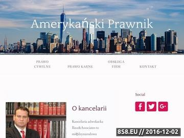 Zrzut strony Rzetelna pomoc prawna z zakresu prawa polskiego i amerykańskiego