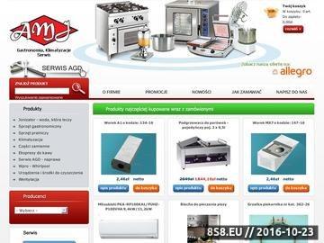 Zrzut strony Firma AMJ - Najlepszy sprzęt gastronomiczny, oraz klimatyzacyjny