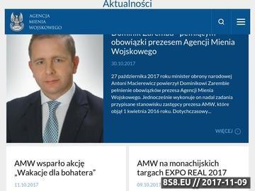 Zrzut strony Agencja Mienia Wojskowego