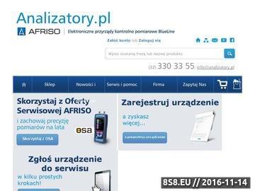 Zrzut strony Analizatory, serwis analizatorów, miernik spalin