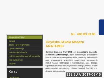 Zrzut strony Kursy masażu ANATOMIC Gdyńska Szkoła Masażu