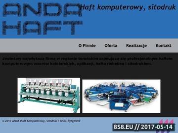 Zrzut strony Haft komputerowy Andahaft