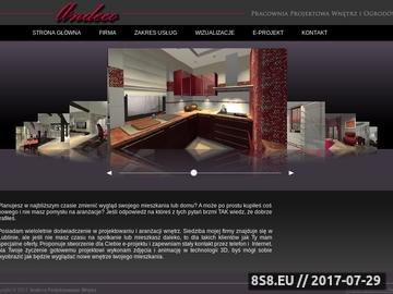 Zrzut strony Andeco Projektowanie Wnętrz i Ogrodów