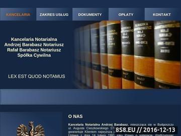 Zrzut strony NOTARIUSZ Andrzej Barabasz czynności notarialne