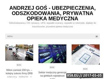 Zrzut strony Andrzej Goś to sukces, współpraca, biznes, niezależność