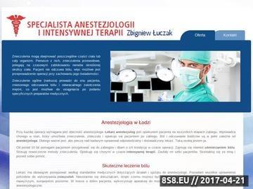 Zrzut strony Zbigniew Łuczak - specjalista intensywnej terapii