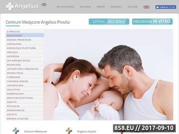Zrzut strony Centrum Medyczne Angelius Szpital Katowice