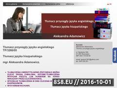 Miniaturka domeny angielskitlumaczeniaprzysiegle.com