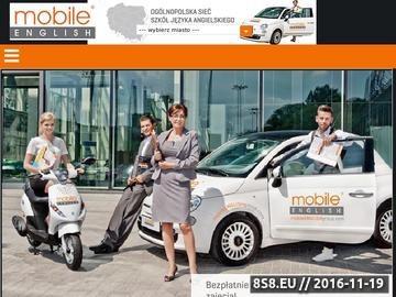 """Zrzut strony """"mobile ENGLISH"""" Wrocław - Angielski z dojazdem do Ciebie!"""