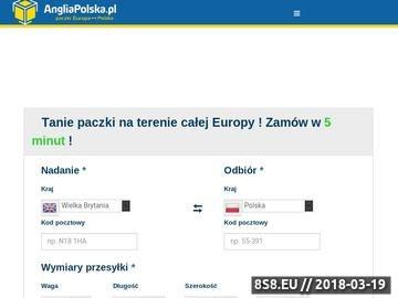Zrzut strony Paczki i Przesyłki z UK do Polski