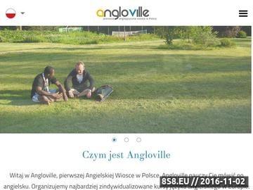 Zrzut strony Angielski w Anglii z firmą Angloville