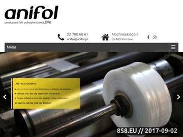 Zrzut strony Anifol - producent folii ldpe