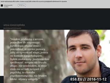 Zrzut strony Anna Moszczyńska - psycholog psychoterapeuta we Wrocławiu