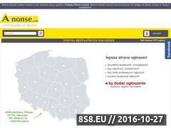 Miniaturka domeny www.anonse.pl