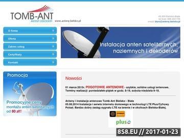 Zrzut strony Tomb-Ant - Serwis i montaż instalacji RTV-SAT, Bielsko Biała