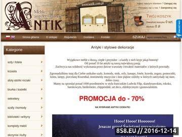 Zrzut strony Sprzedaż antyków online