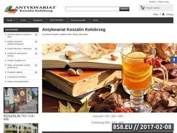Zrzut strony Antykwariat Koszalin