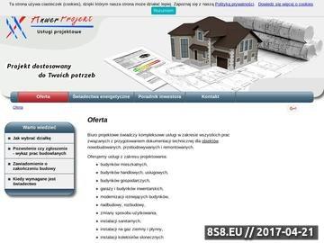 Zrzut strony Projekty domów, świadectwa energetyczne