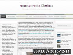 Miniaturka domeny www.apartamenty-chotarz.pl