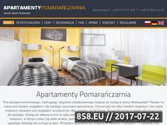 Miniaturka domeny www.apartamenty-pomaranczarnia.pl