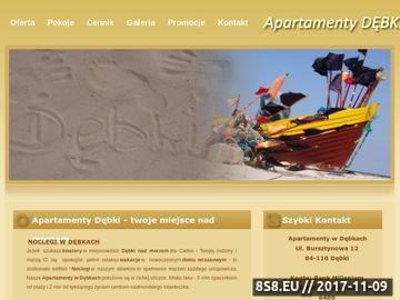 Zrzut strony Apartamenty w Dębkach nad morzem