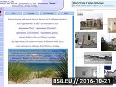 Miniaturka domeny www.apartamentyustka.com.pl