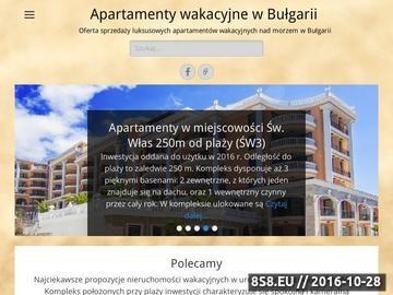 Zrzut strony Oferta sprzedaży apartamentów wakacyjnych nad morzem w Bułgarii