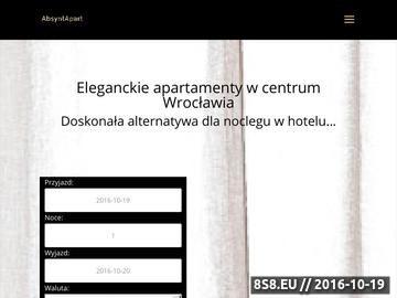 Zrzut strony Wrocław Apartments