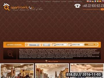 Zrzut strony Apartments4u to serwis, który pozwala na rezerwowanie mieszkań