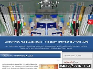 Zrzut strony APC Analizy Medyczne Małgorzata Banasik