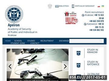 Zrzut strony Studia w Katowicach