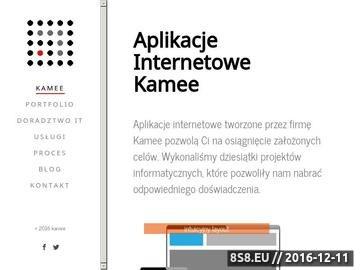 Zrzut strony Aplikacje internetowe - webowe