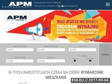 Zrzut strony Mieszkania Warszawa deweloper APM Development korzystne promocje