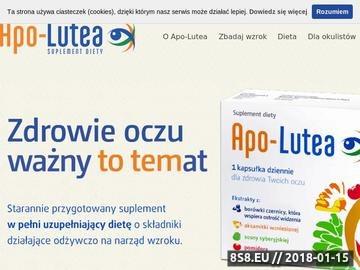 Zrzut strony Apo-lutea - witaminy na oczy