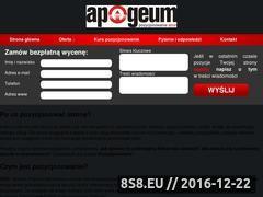 Miniaturka domeny www.apogeum-seo.pl