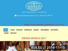 Miniaturka domeny www.apostolos.pl