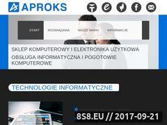 Miniaturka domeny www.aproks.pl