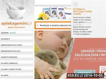 Zrzut strony Dermokosmetyki w aptece internetowej