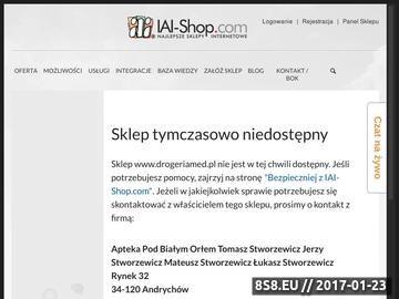 Zrzut strony Apteka internetowa